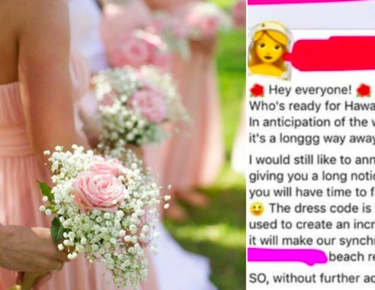Bride To Be Asks Her Guests To Dress According To Their Appearance