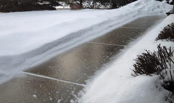 No More Icy Driveway