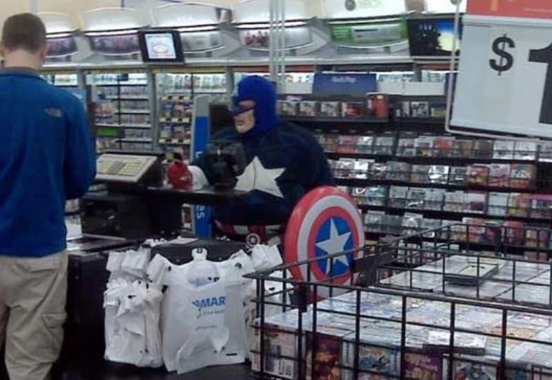 Captain America Shops Too